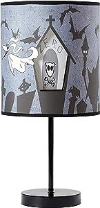Idea Nuova Nightmare Before Christmas Double Shade Table Lamp, Grey