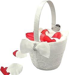 EinsSein 1x Streukörbchen Hochzeit Liz creme Blumenkinder Hochzeit Blumenkorb Blumenkörbe Blumenmädchen Blumendeko basket girl flower