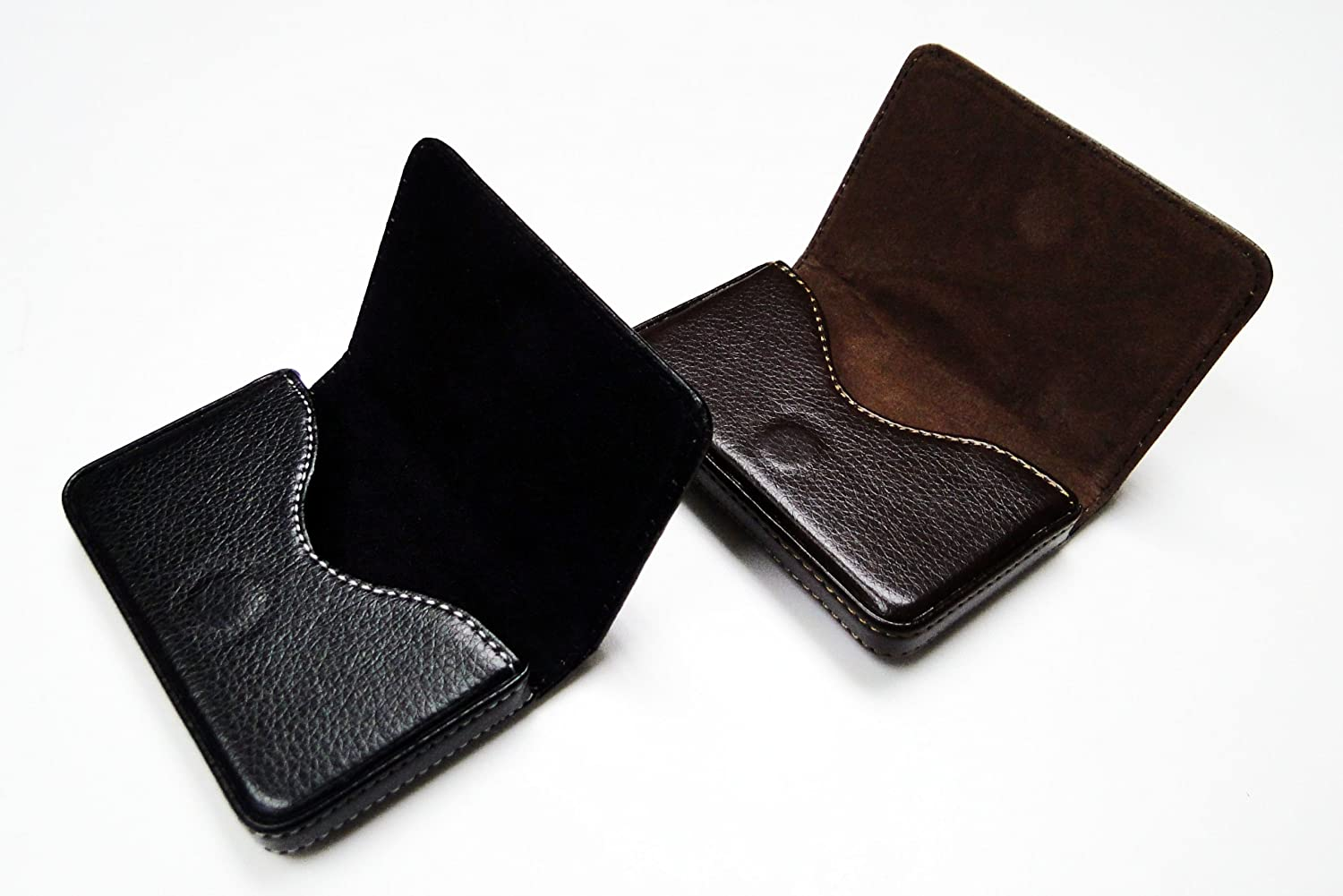 Amazon.com: Business Name Card Holder Synthetic Leather Case ...