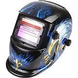 FIXKIT Careta para Soldar Casco de Soldadura Máscara para Soldar de Energía Solar de Oscurecimiento Automático y Ajustable Estilo Águila