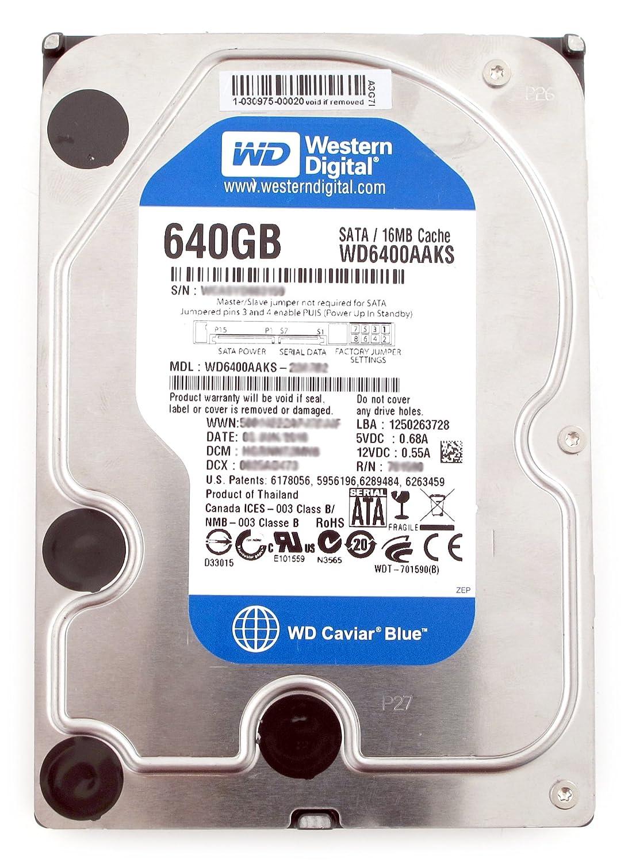 """Western Digital 640GB 7200RPM 3.5/"""" SATA Desktop Hard Drive WD6400AAKS"""