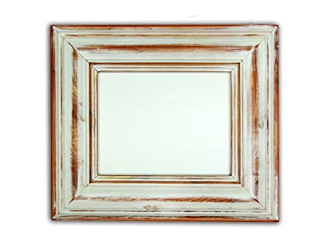 rustic aged antique distressed white picture frame 8x10 handmade - Distressed White Picture Frames