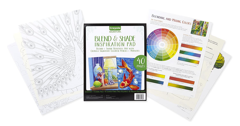 amazon com crayola blend shade inspiration pad marker colored
