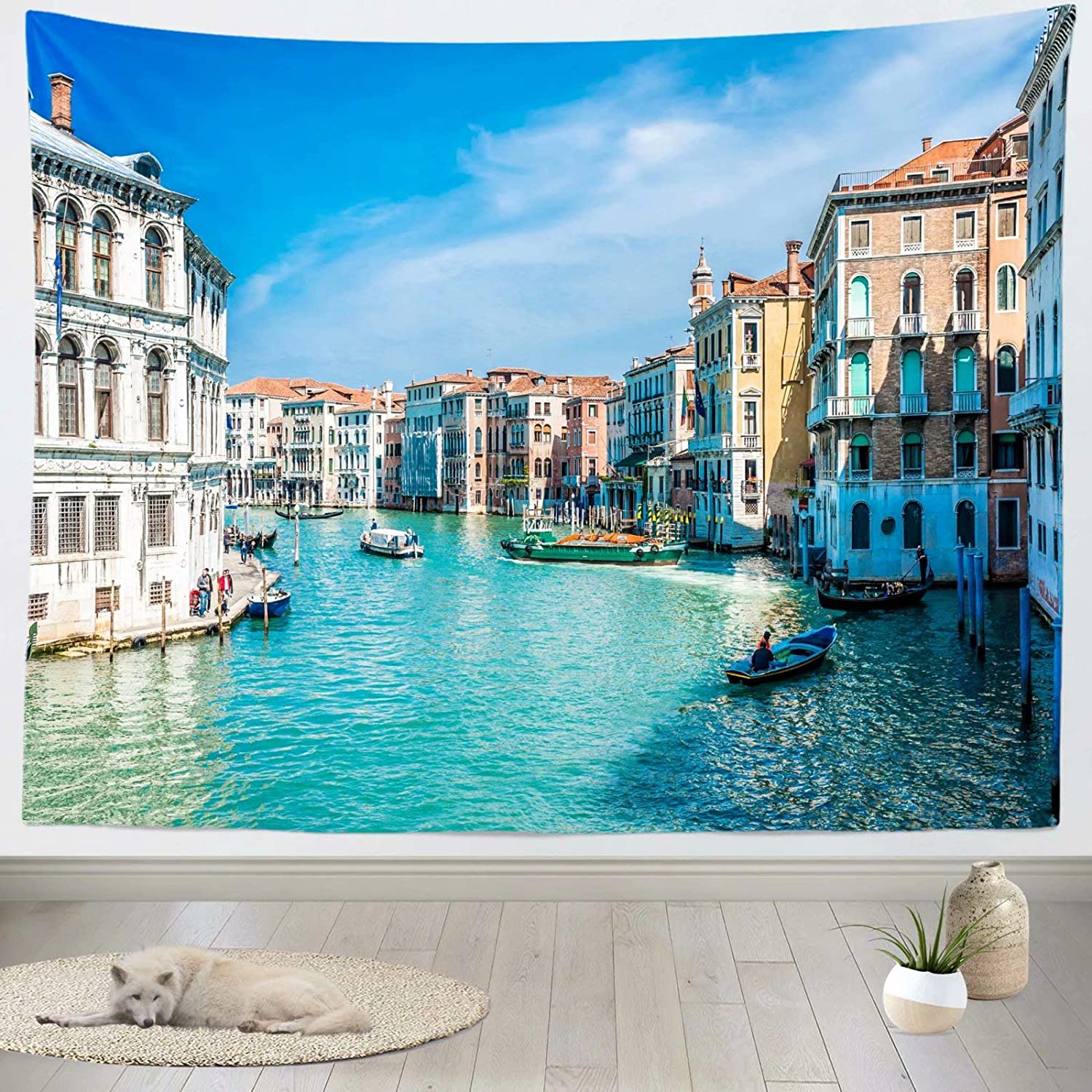 Amazon Com Loccor Venice Italy Tapestry Photo Backdrop Gondola Near Rialto Bridge On Grand Canal Street Venice Tapestry Wall Hanging For Bedroom Living Room College Dorm Photography Photo Booth Home Decorations Home