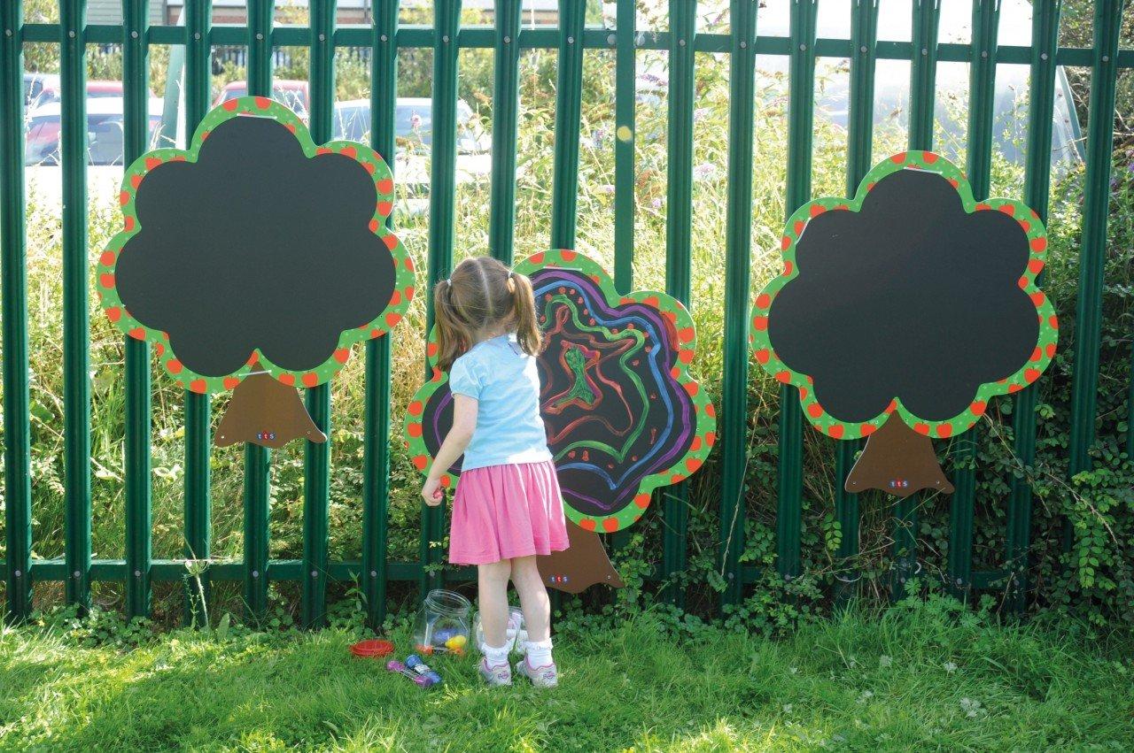 Outdoortafeln 3er Set / Baum Trio für drinnen und draußen / Material: wetterfestes Foamex / Maße: 80 x 100 cm / für Kinder ab 3 Jahren