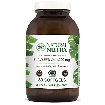Amazon Natural Nutra Organic Flaxseed Oil Softgels Plant Based