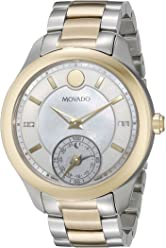 Movado Womens 0660005 Analog Display Swiss Quartz Two Tone Smartwatch