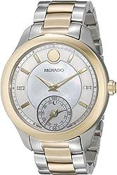 Movado Womens 0660005 Analog Display Swiss Quartz Two Tone Smartwatch