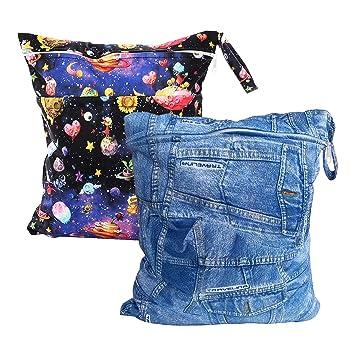 Amazon.com: Juego de 2 bolsas de pañales húmedas y secas ...