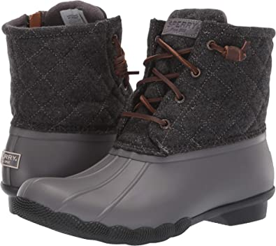 ebfb492a912 SPERRY Women's Saltwater Quilted Wool Grey 6.5 M US