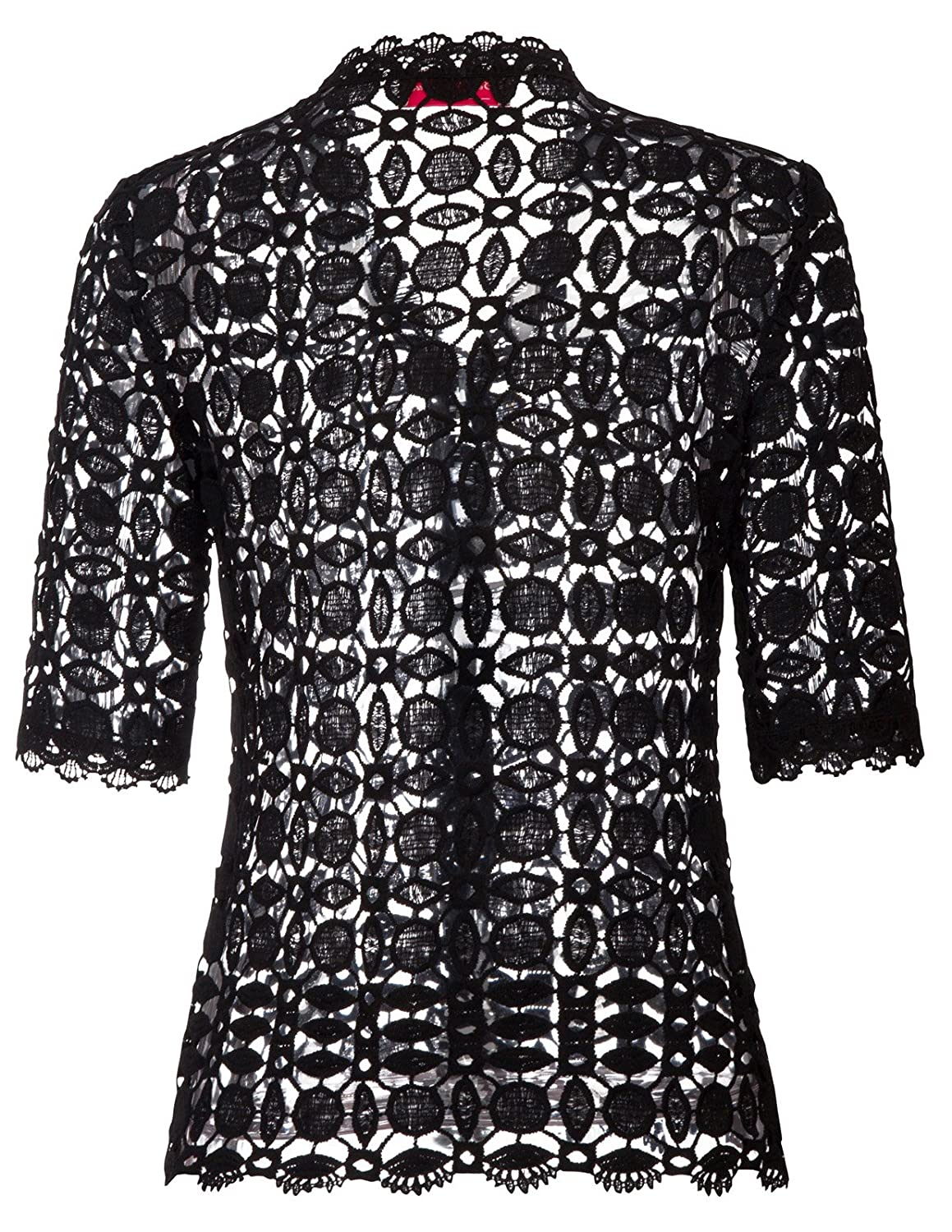 9c1ae9b9dac Belle Poque Women s Lace Shrug Cardigan Half Sleeve Open Front Crochet Bolero  Jacket at Amazon Women s Clothing store