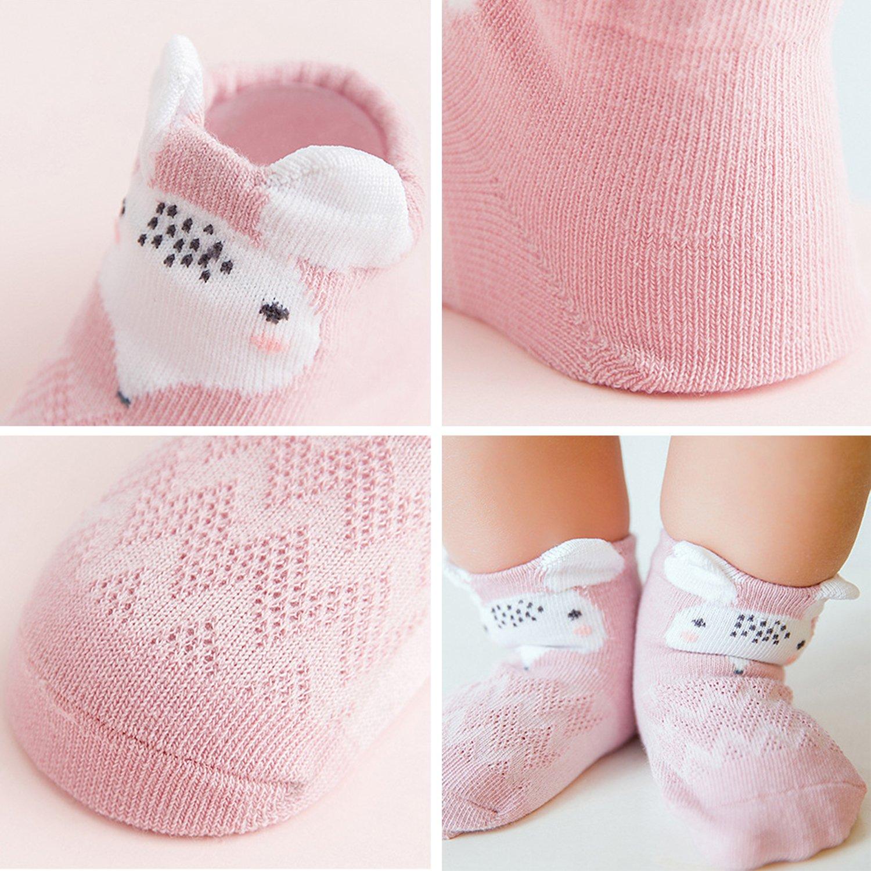 XPX Garment 5 Pares Animal Algod/ón Calcetines de Corte Bajo para Beb/é Ni/ños Ni/ñas 0-3 a/ños
