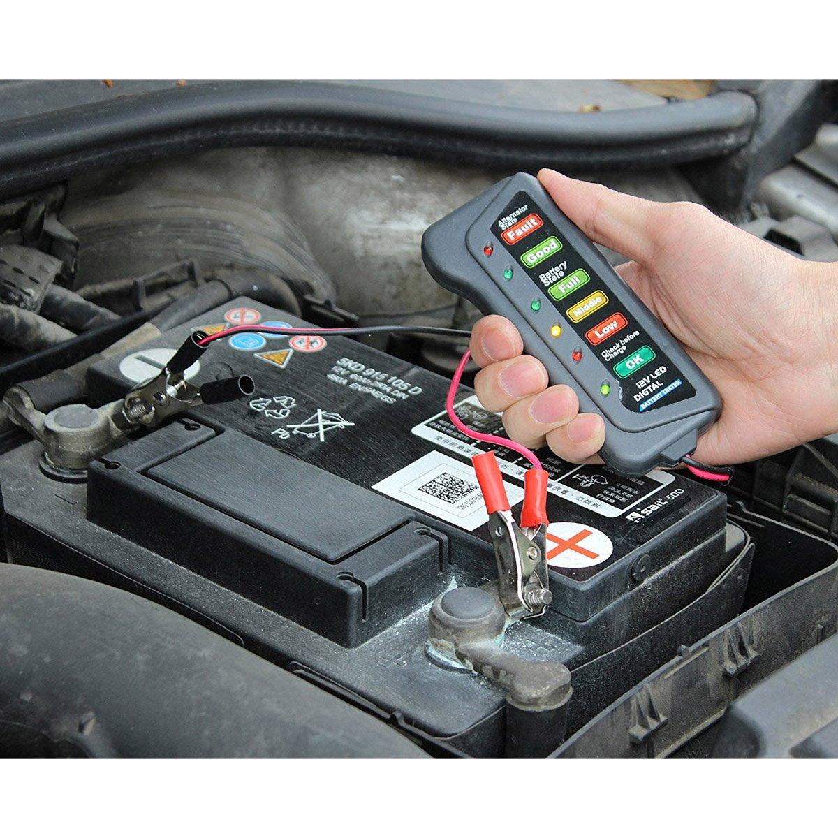 WINOMO 12V Auto Batterie Tester Lichtmaschine Ladeger/ä t f/ü r Automotive Motorrad U4143036248O85352