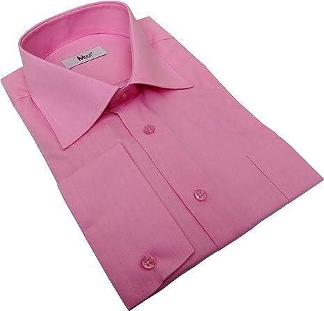 MMUGA Camisa de manga larga para hombre con pañuelo clásico ...