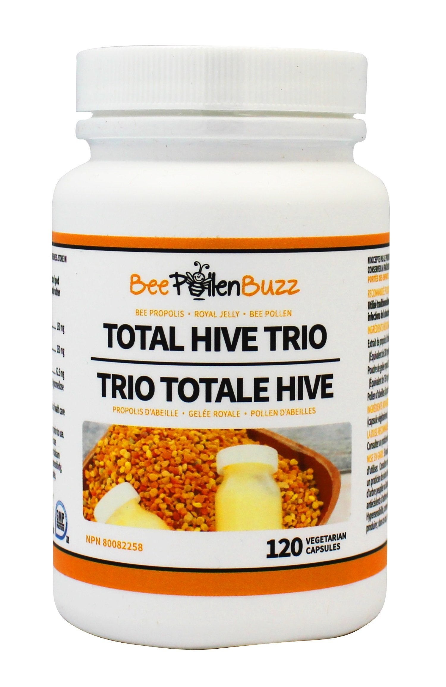 Total Hive Trio 120 caps - Royal Jelly, Propolis and Bee Pollen in 1 capsule