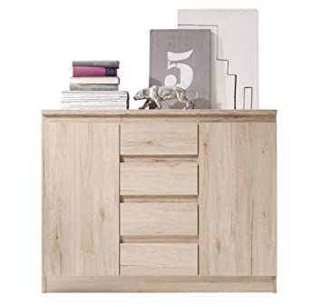 Trendteam Smart Living Ad87090 Kommode Eiche San Remo Hell
