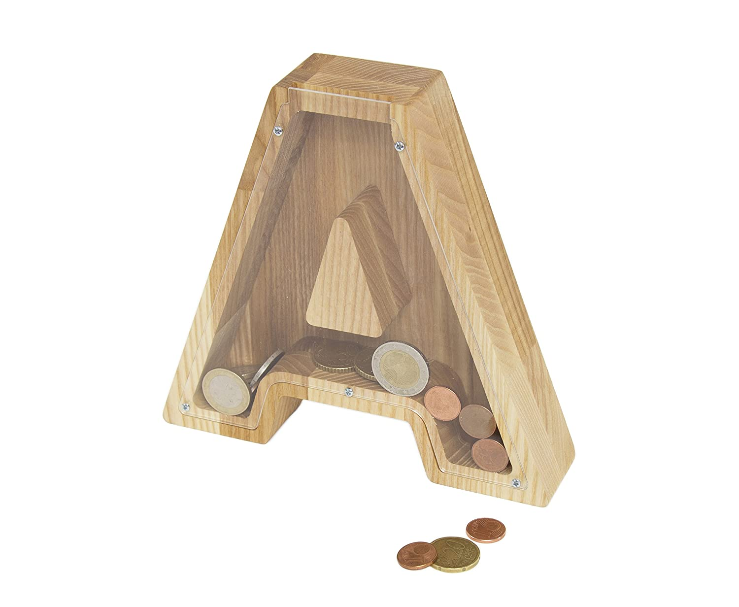 A Letter Money Box Bank - Kids piggy bank - Collecting coin - Money box - Piggy bank - Wood money box - Wooden money box - Babyshower gift - Toddler gift