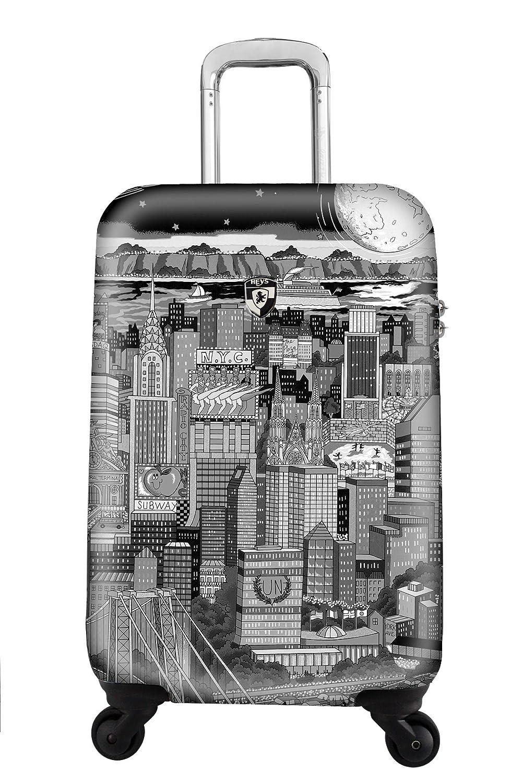 STARK REDUZIERT - 50% SALE - PREMIUM DESIGNER Hartschalen Koffer - Heys Künstler Fazzino Manhattan Handgepäck