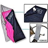 FloBaJo-Fit - GymTow V2 Sporthandtuch, Fitness-Handtuch mit Doppeltasche und umgenähtem Kopfteil (Sleeve), 100% Baumwolle, 100 cm Länge, Antirutschfunktion, ideal für das Fitnessstudio