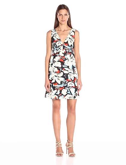 29038cee3e29 Amazon.com: MILLY Women's Gardenia Print Mini Dress: Clothing