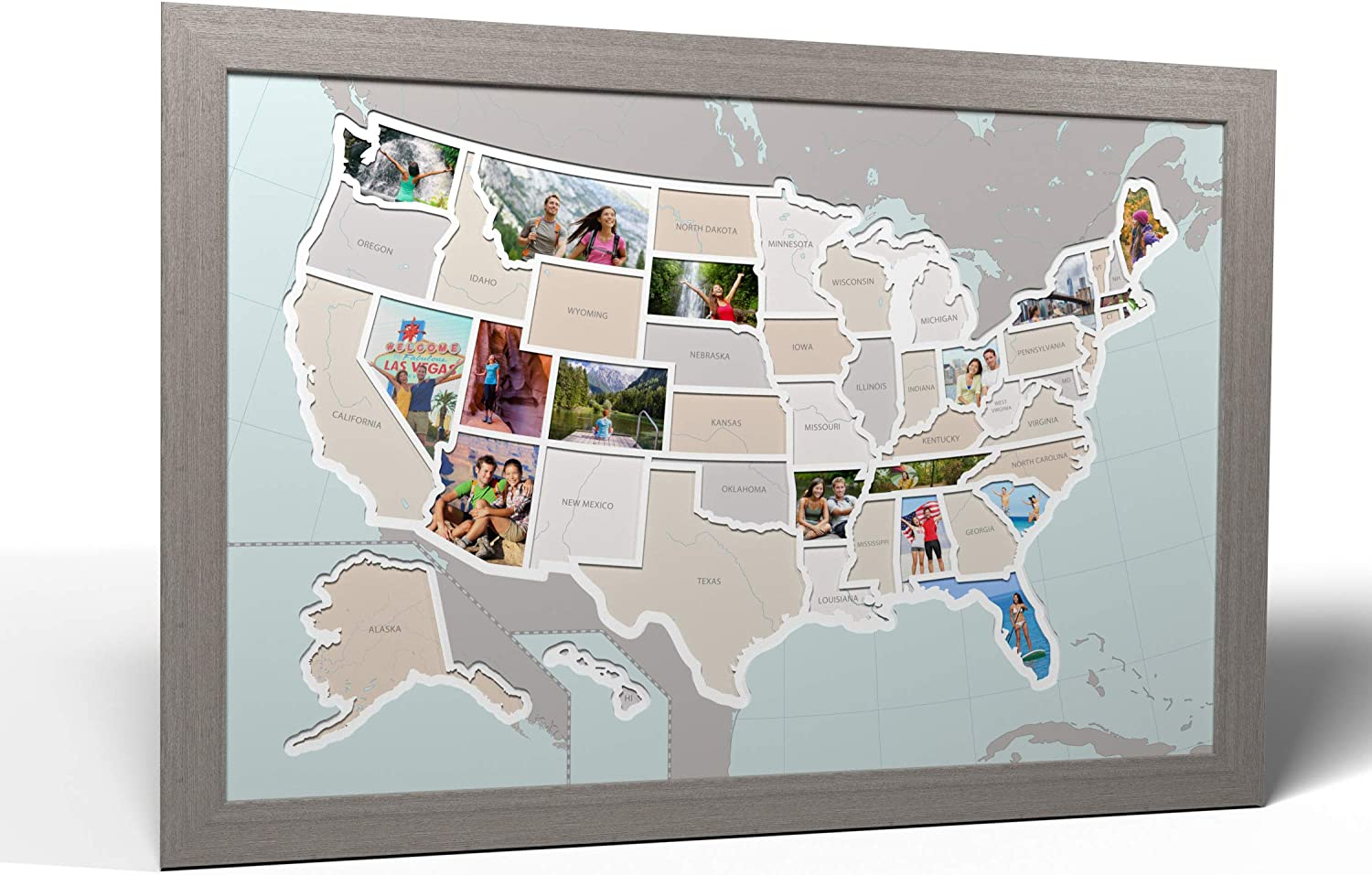 Us Map Picture Frame Amazon.com: Thunder Bunny Labs 50 States USA Photo Map   Frame