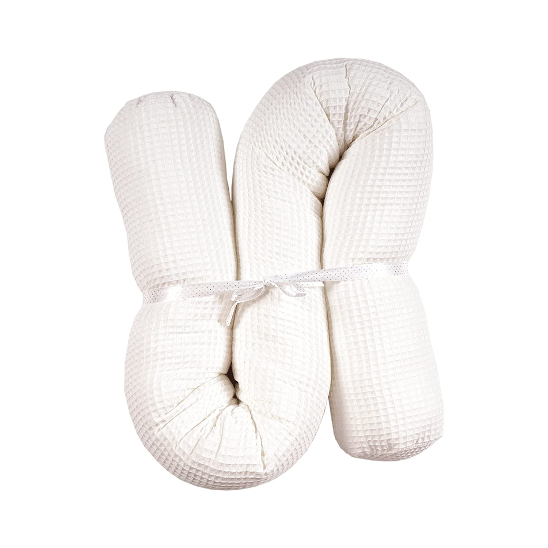 MoMika - Rollo de cama para cuna de 190 cm para cuna, cuna o cuna, 100% algodón rosa