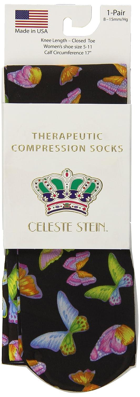827b69489e Celeste Stein Therapeutic Compression Socks, Multi Gogo, 8-15 mmhg, .6  Ounce CMPS-1850