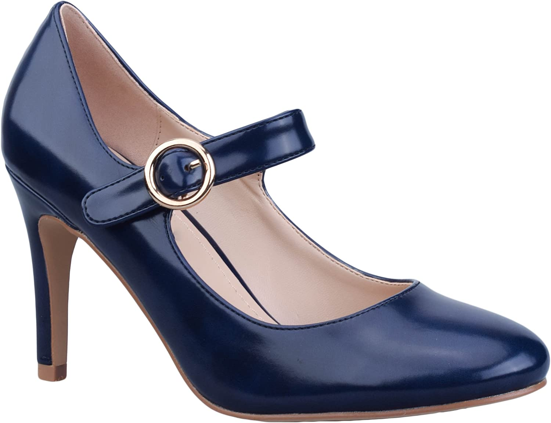 Greatonu Zapatos de Tacón Marry Jane para Mujer