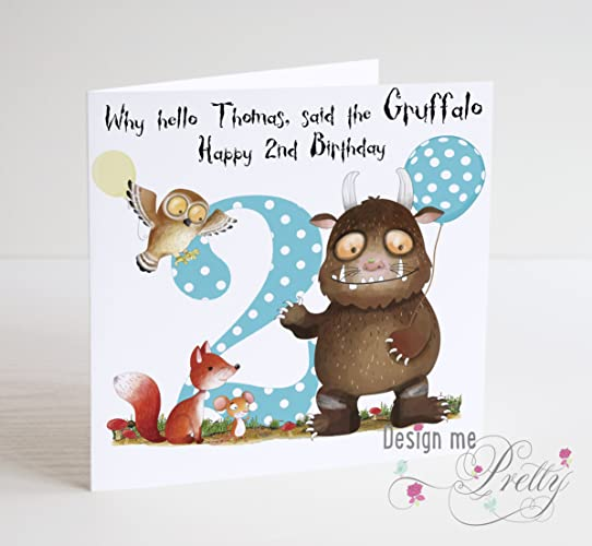 Gruffalo Inspired Boys Birthday Card Amazon Co Uk Handmade