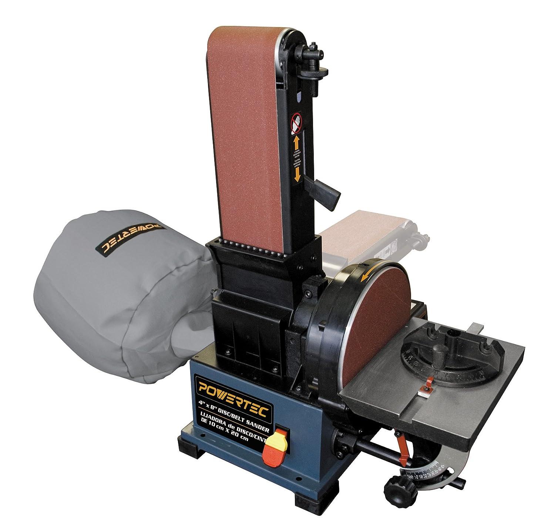 POWERTEC BD4800 Woodworking Belt Disc Sander Machine w/ Built-In Dust Collection System