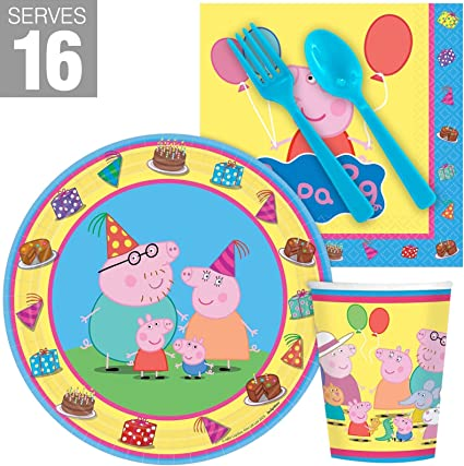 Amazon.com: Peppa Pig Snack Pack de Fiesta para 16: Toys & Games