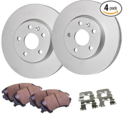 Detroit Axle - 4WD Front Disc Brake Rotors & Ceramic Pads w/Clips Hardware  Kit Premium GRADE for 1997 1998 1999 2000 2001 2002 2003 Ford F-150 4WD