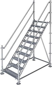Scafom-rux - Escalera de construcción (para 2 m de altura, acero galvanizado): Amazon.es: Bricolaje y herramientas