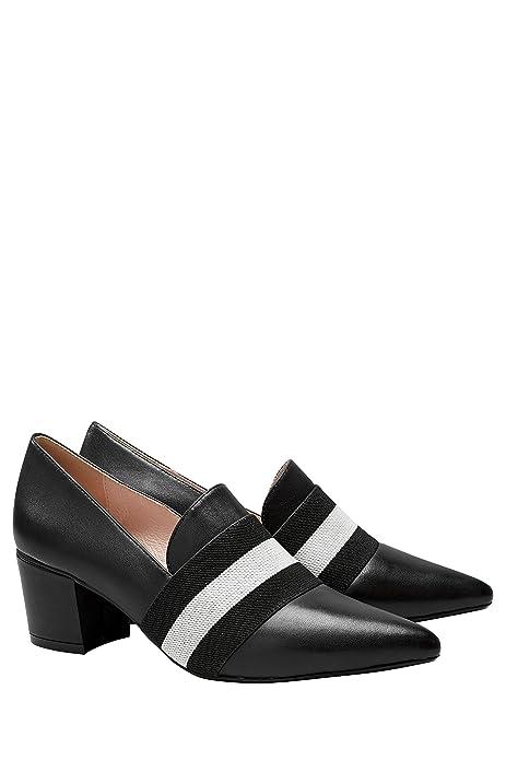 next Mujer Zapatos De Piel Estilo Mocasines De Tacón Ancho Elásticos Sin Cierre: Amazon.es: Zapatos y complementos