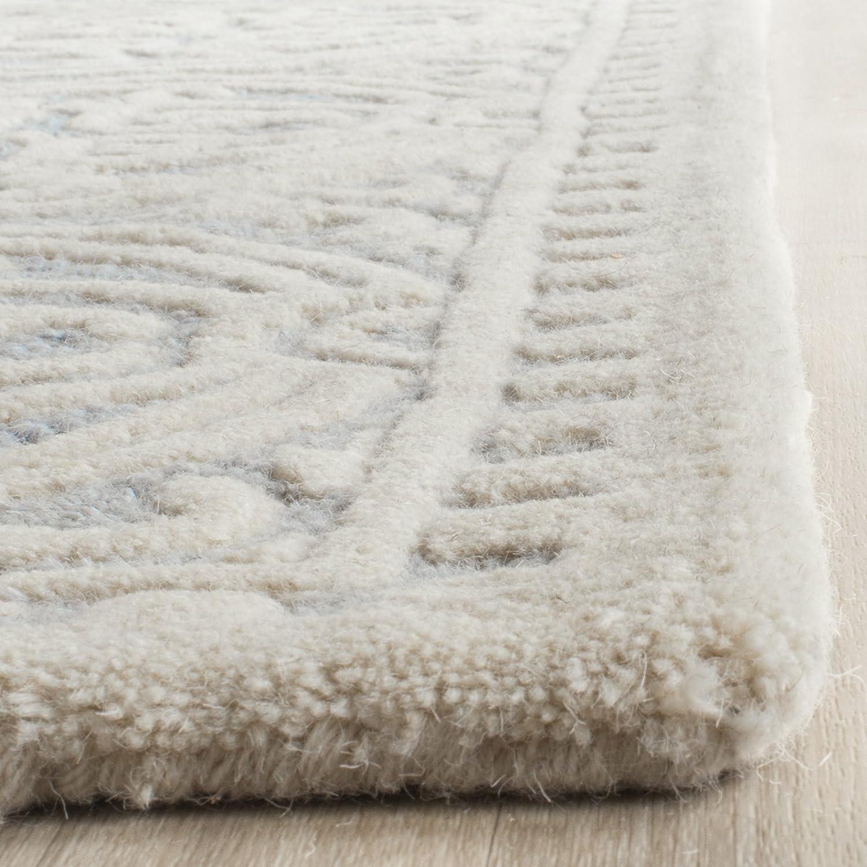 Safavieh Marina handgetufteter Teppich, Teppich, Teppich, CAM123A, Hellblau   Elfenbein, 91 X 152  cm B00E2OONO4 Teppiche 70b10d