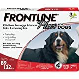 FRONTLINE Plus Flea and Tick Treatment for Dogs (Extra Large Dog, 89-132 Pounds, 3 Doses)