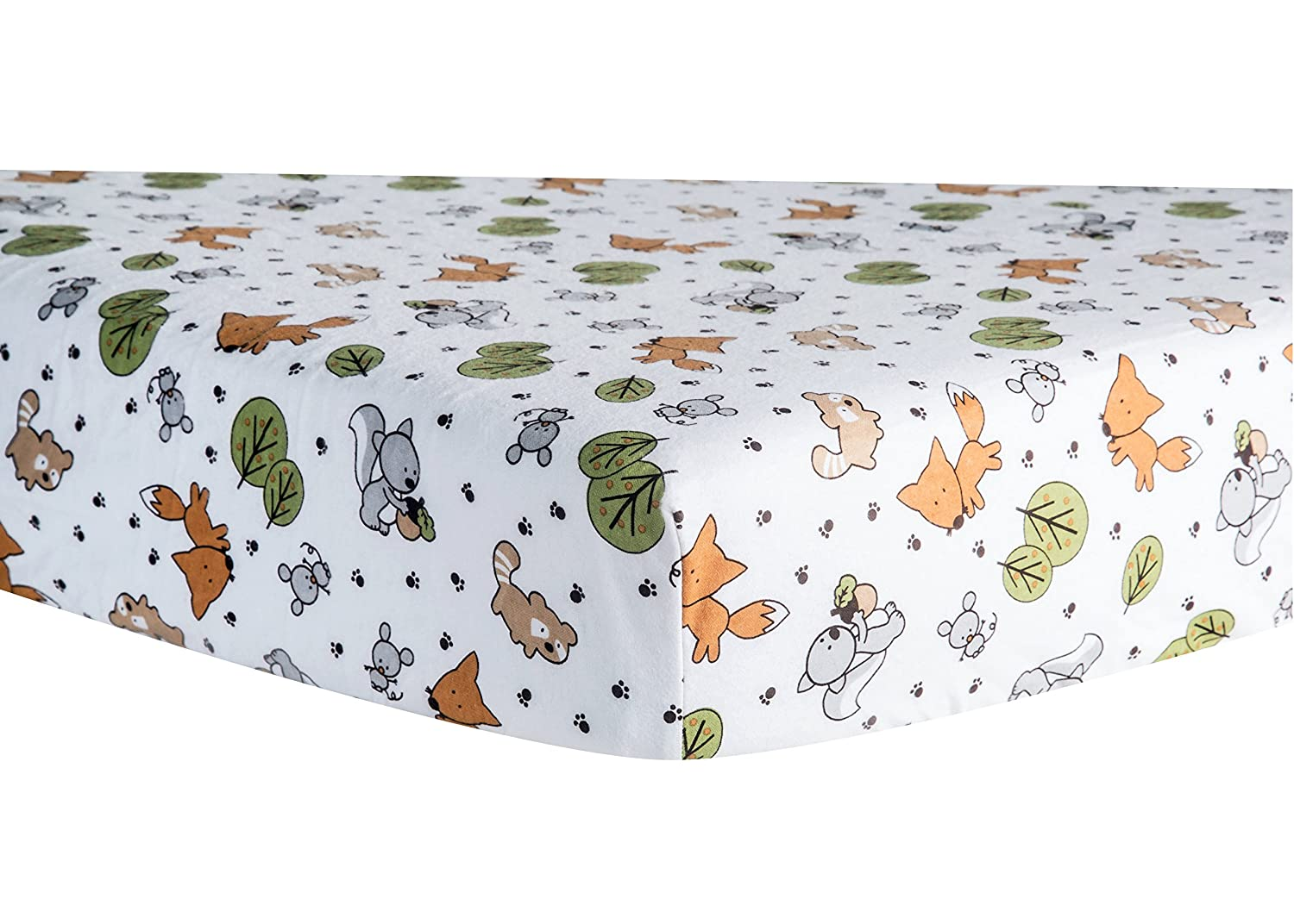 Trend Lab Crib Sheet, Forest Animal 100030