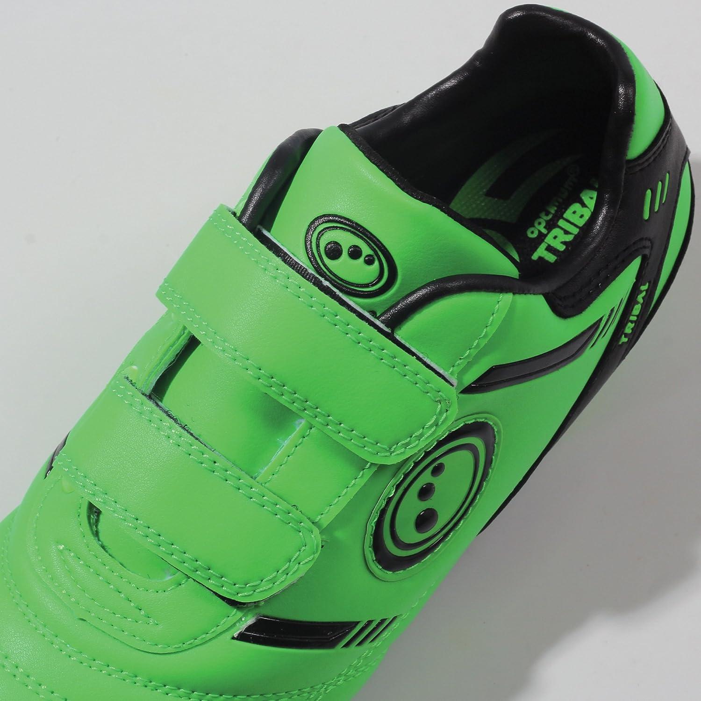 Optimum Jungen Tribal-Velcro Moulded Stud Fußballschuhe, Green (Fluro Green/Black), 37 EU (4 UK)