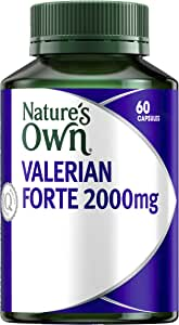 Nature's Own Valerian Forte 2000mg - Relaxant for Mild Anxiety - Provides Insomnia Relief - Calms the Nerves, 60 Capsules