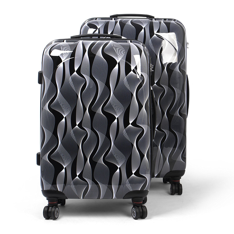 MasterGear Design Koffer Set 2 tlg in blau (petrol) , Größe: M & L , Reisekoffer 4 Rollen (360 Grad) , Trolley, Kofferset, Hartschalenkoffer , ABS Koffer Hartschale mit Zahlenschloss, stapelbar Größe: M & L 4250772303885