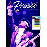 iPosters Bundle - 2 Items - Prince 2019 Wall Calendar - Closed Size : 42 x 29.5 cm (16.5 x 11.5 Inches) and a Sheet of 70 Multi Colour Self Adhesive Dot Stickers