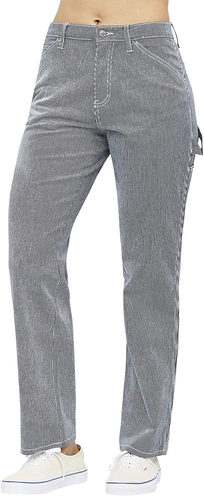 Navy//White 11 Dickies Girl Carpenter Pant Striped