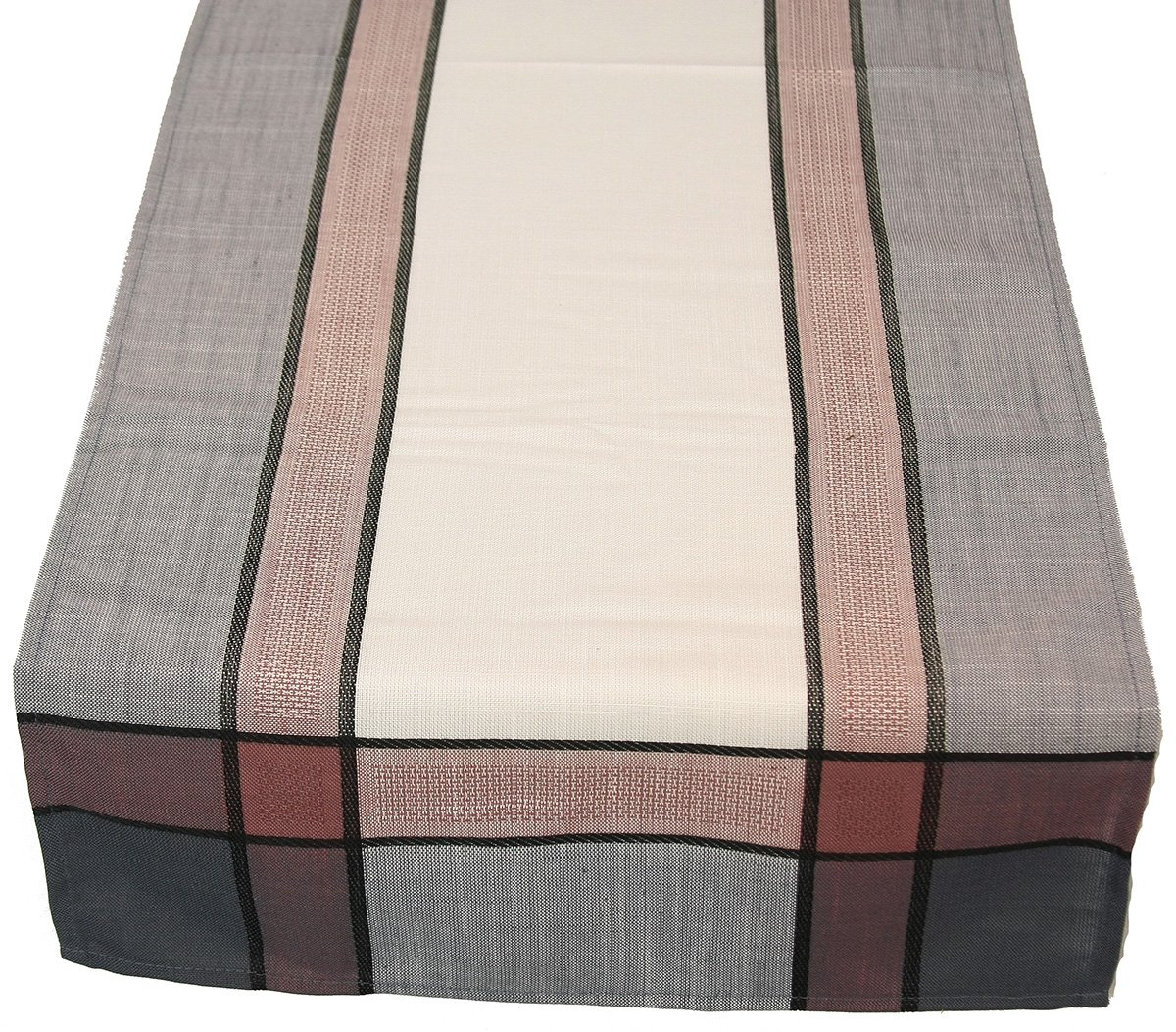 Xia Home Fashions Riviera Table Linens 15-Inch by 72-Inch Table Runner, White