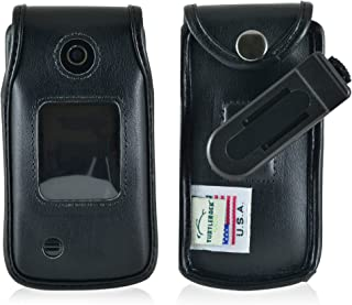 product image for Turtleback Fitted Case Made for LG 450 Flip Phone Black Leather Rotating Removable Belt Clip Made in USA