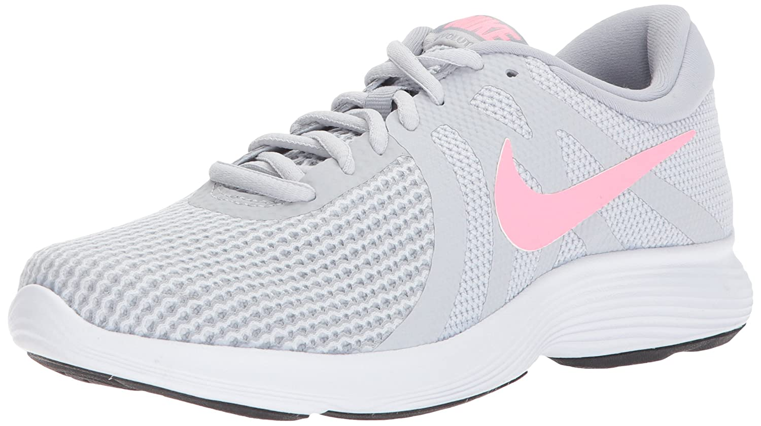 newest collection 87538 731e7 Amazon.com   Nike Women s Revolution 4 Running Shoe, Pure Platinum Sunset  Pulse-Wolf Grey, 9 Regular US   Road Running