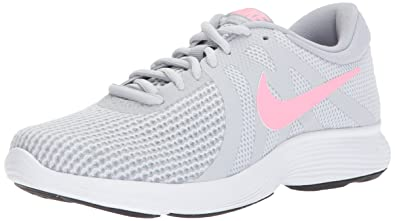 392cac6e9dd Image Unavailable. Image not available for. Color  Nike Women s Revolution 4  Running Shoe Pure Platinum Sunset ...