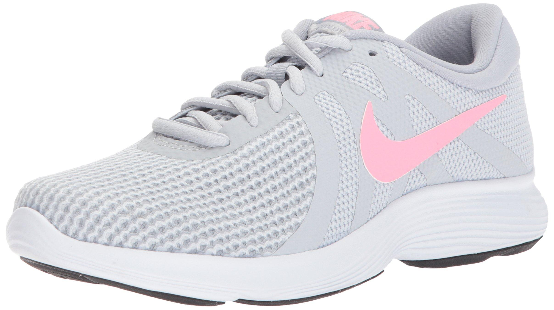 NIKE Women's Revolution 4 Running Shoe, Pure Platinum/Sunset Pulse-Wolf Grey, 6.5 Regular US