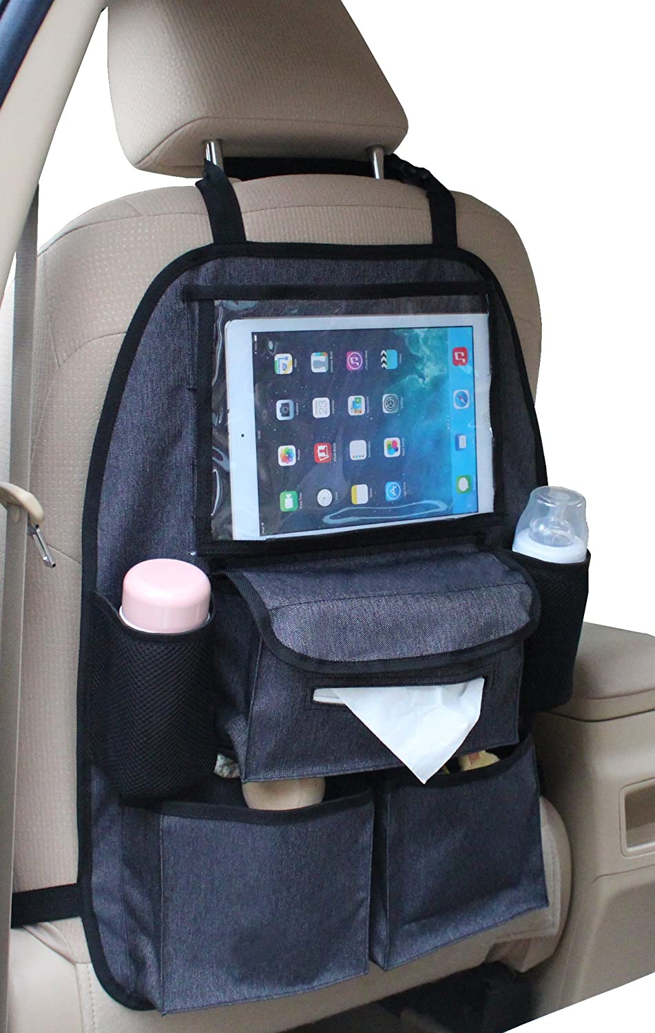 altabebe deluxe organisateur siege arriere de voiture avec poche pour tablette ebay. Black Bedroom Furniture Sets. Home Design Ideas