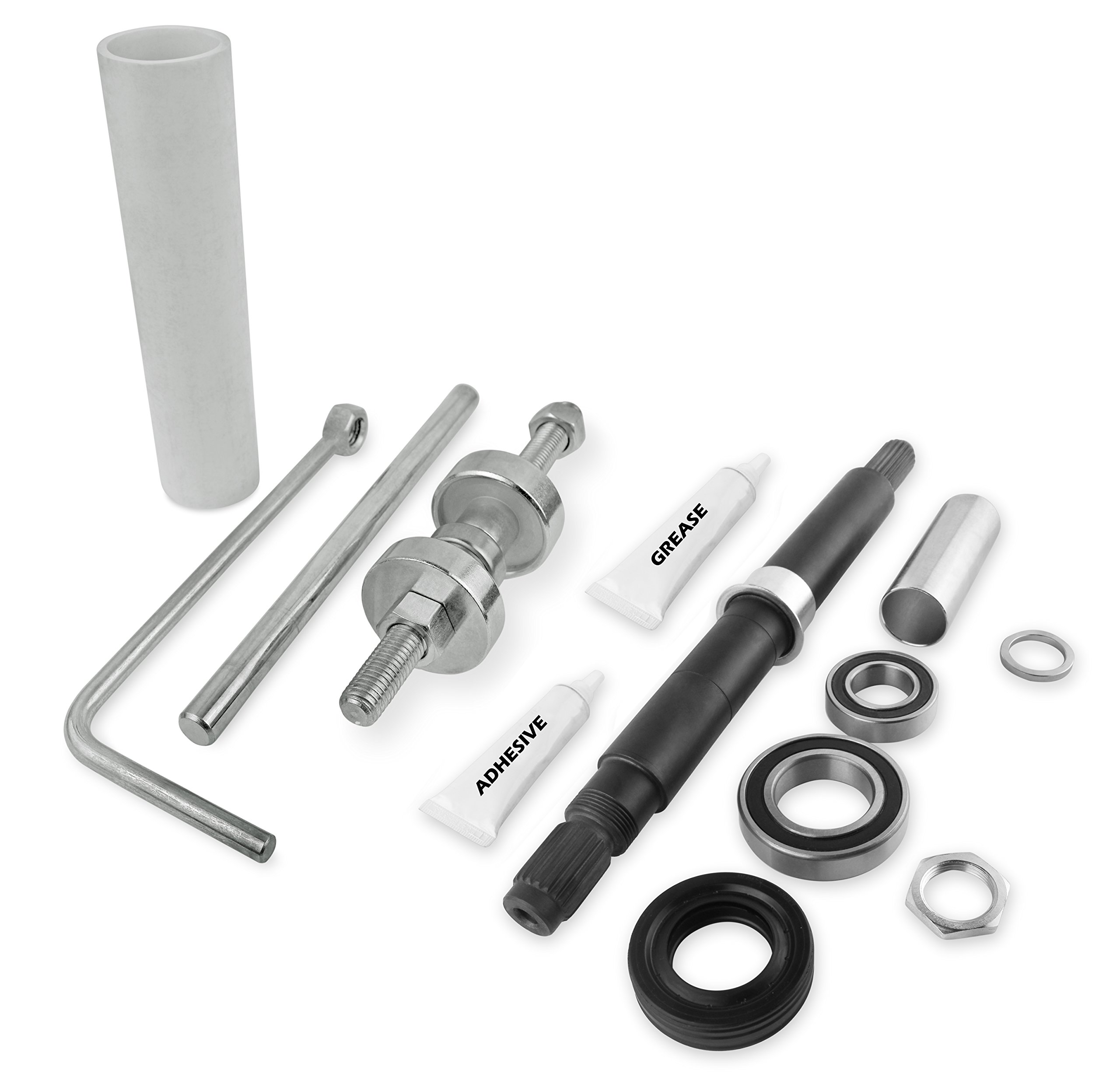 Bearing and seal Kit With Tool Fits Whirlpool W10435302 and W10447783 by KOB