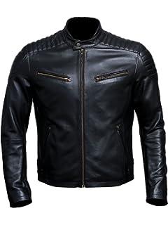 9781a55e Artistry Leather Luxury Premium Handmade Genuine Lambskin Men's Leather  Jacket for Bikers - Black